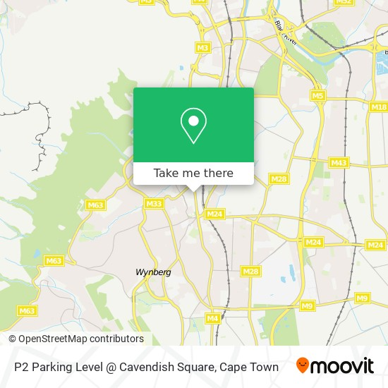 P2 Parking Level @ Cavendish Square map