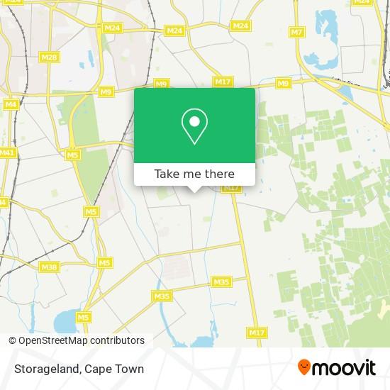 Storageland map