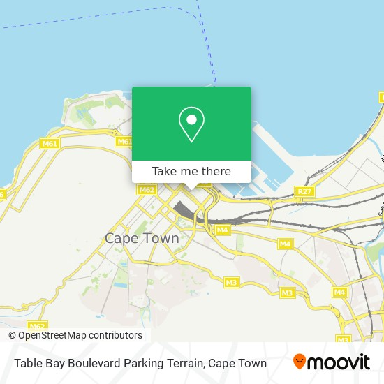 Table Bay Boulevard Parking Terrain map