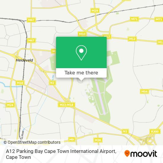 A12 Parking Bay Cape Town International Airport map