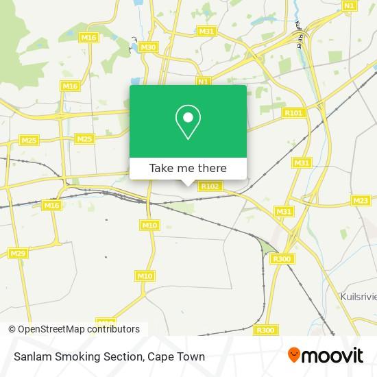 Sanlam Smoking Section map