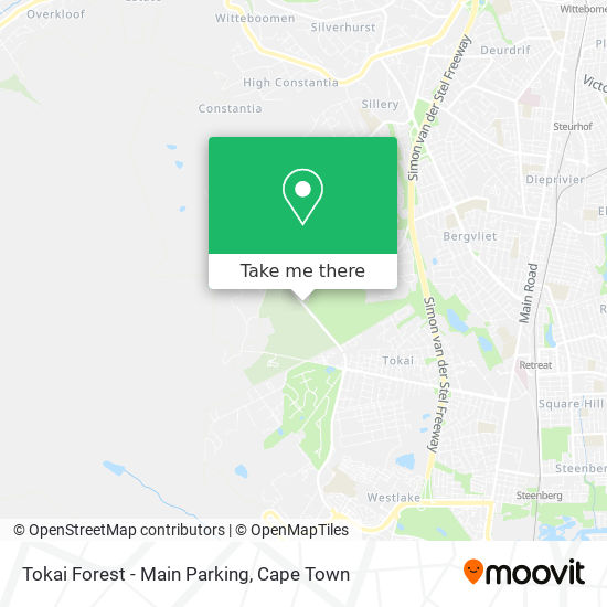 Tokai Forest - Main Parking map