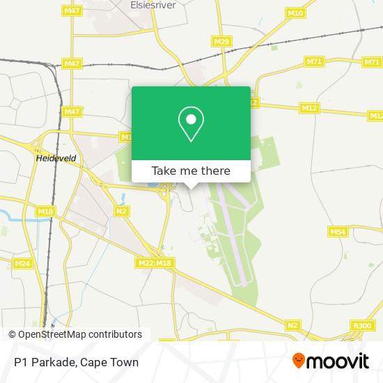 P1 Parkade map