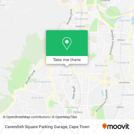 Cavendish Square Parking Garage map
