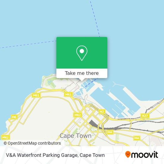 V&A Waterfront Parking Garage map