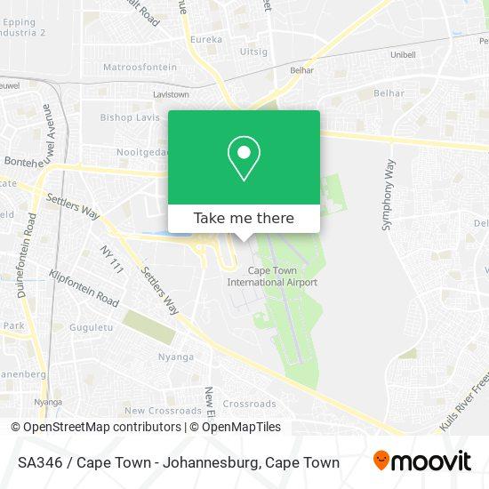 SA346 / Cape Town  - Johannesburg map