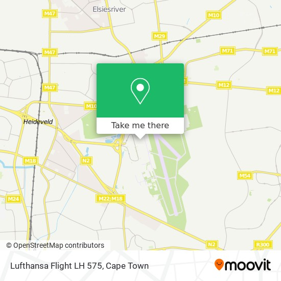 Lufthansa Flight LH 575 map