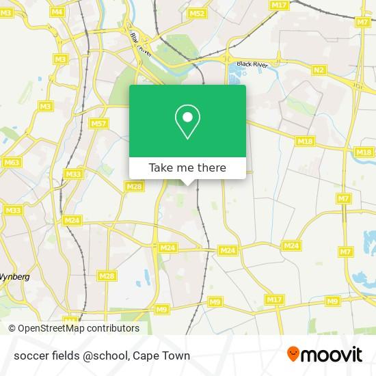 soccer fields @school map