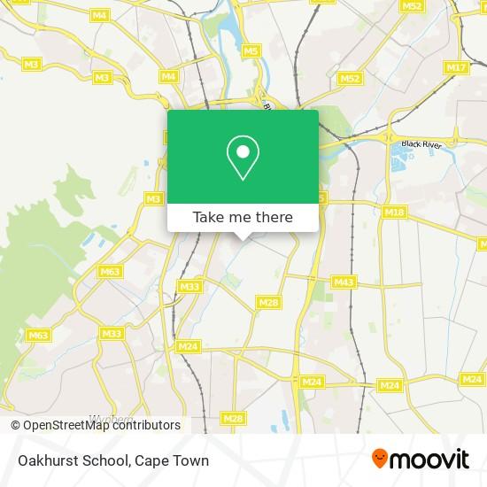 Oakhurst School map