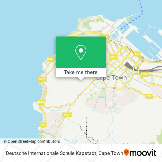 Deutsche Internationale Schule Kapstadt map