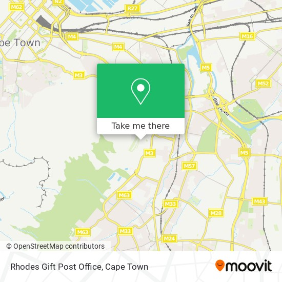 Rhodes Gift Post Office map