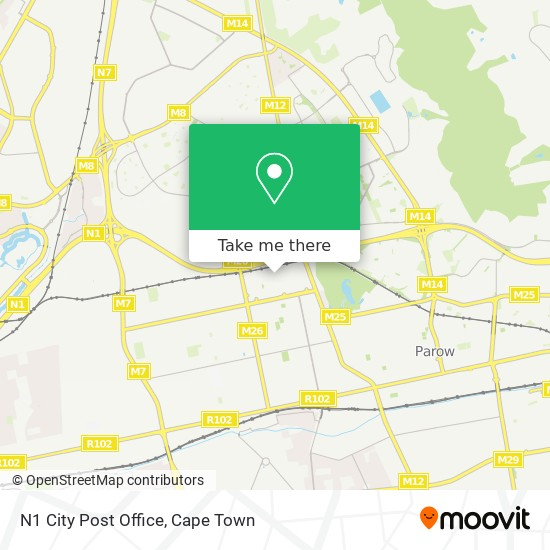 N1 City Post Office map