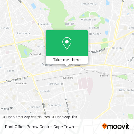 Post Office Parow Centre map