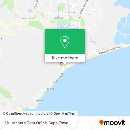 Muizenberg Post Office map
