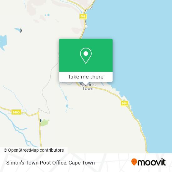 Simon's Town Post Office map