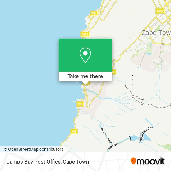 Camps Bay Post Office map
