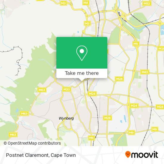 Postnet Claremont map