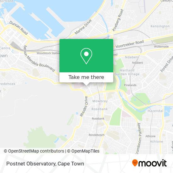 Postnet Observatory map