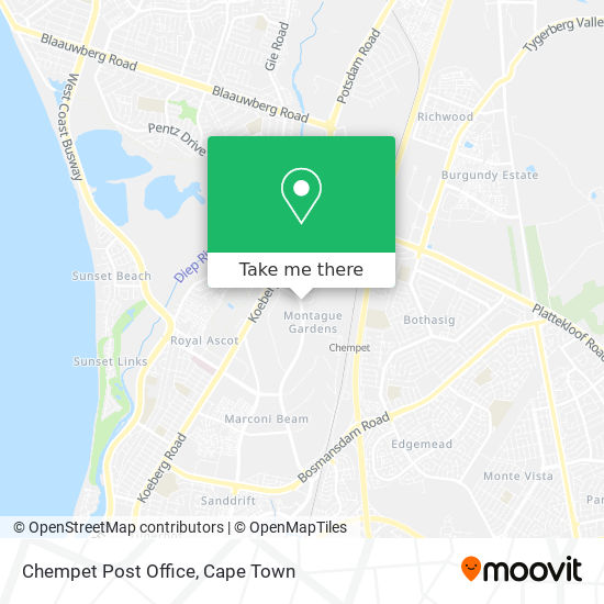 Chempet Post Office map