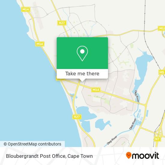Bloubergrandt Post Office map