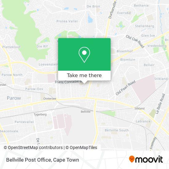 Bellville Post Office map