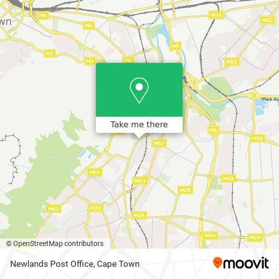Newlands Post Office map