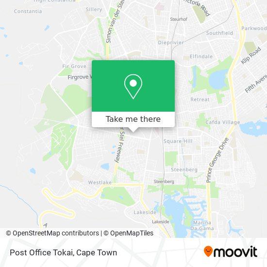 Post Office Tokai map