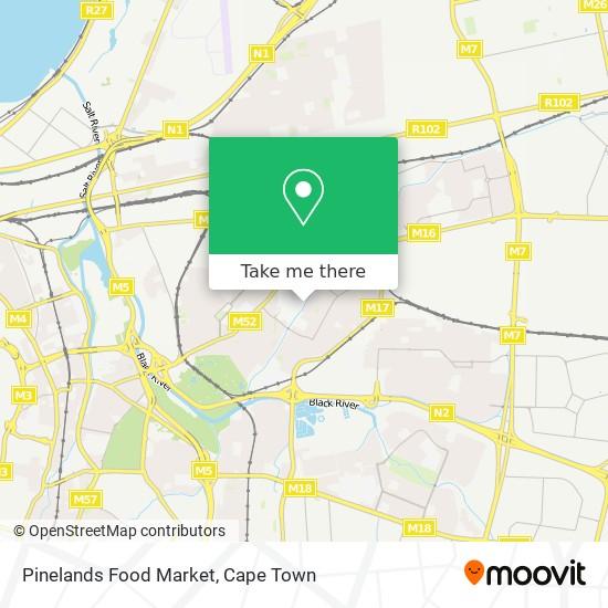 Pinelands Food Market map