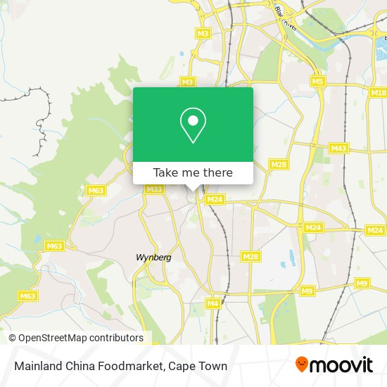 Mainland China Foodmarket map