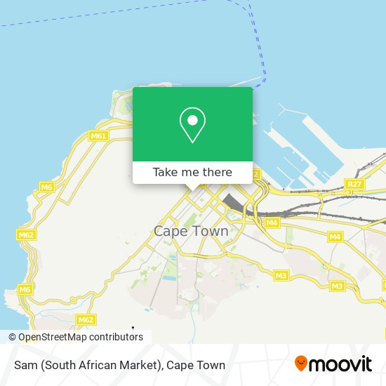 Sam (South African Market) map
