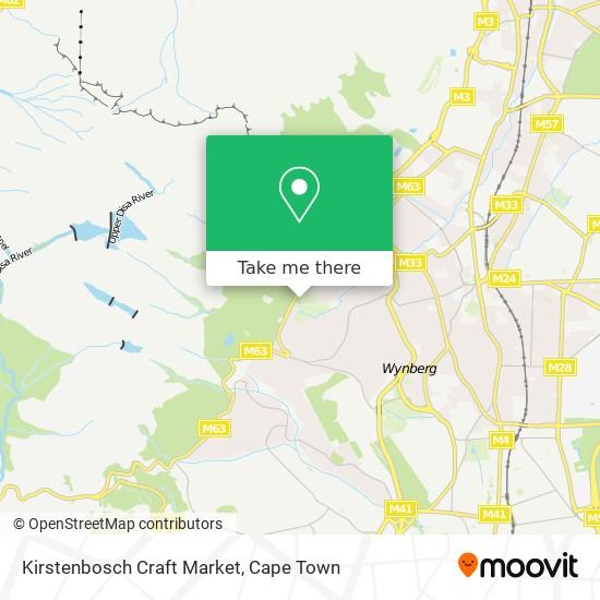 Kirstenbosch Craft Market map