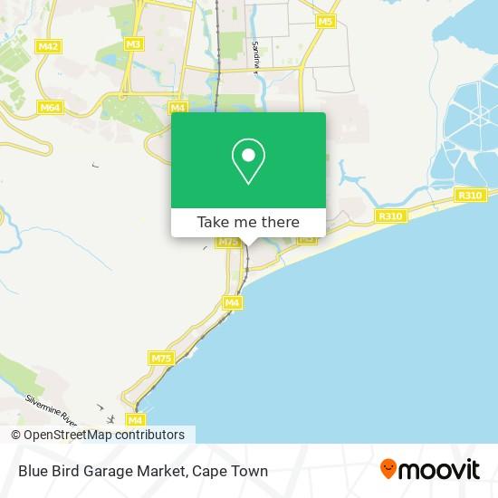 Blue Bird Garage Market map