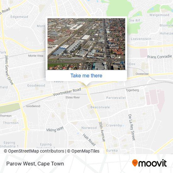 Parow West map