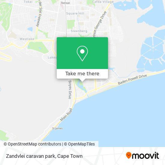 Zandvlei caravan park map