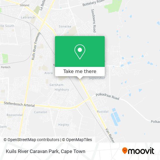 Kuils River Caravan Park map