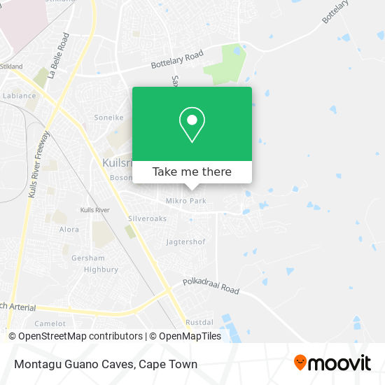 Montagu Guano Caves map