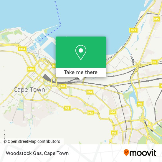Woodstock Gas map