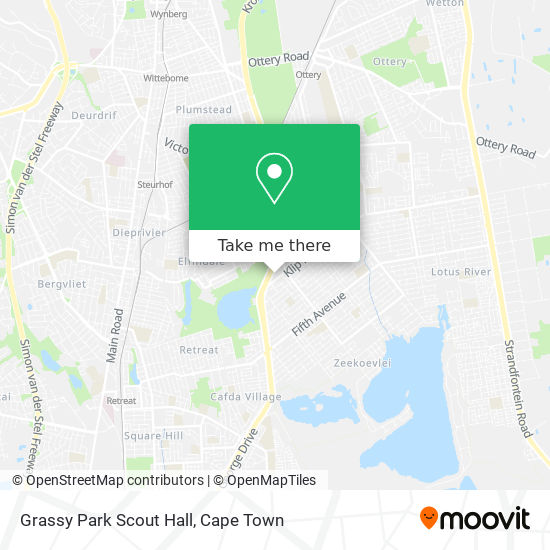 Grassy Park Scout Hall map