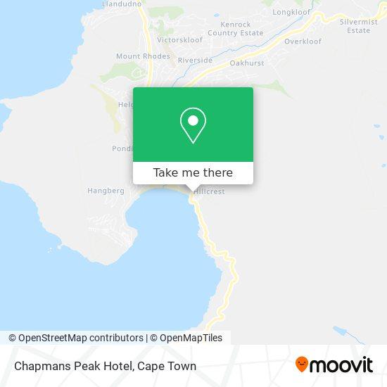 Chapmans Peak Hotel map