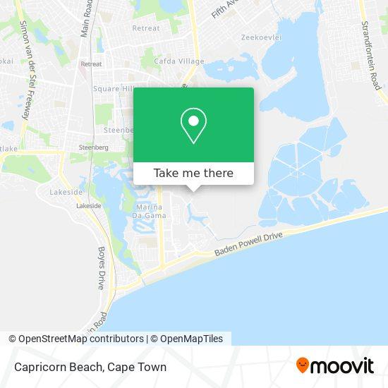 Capricorn Beach map