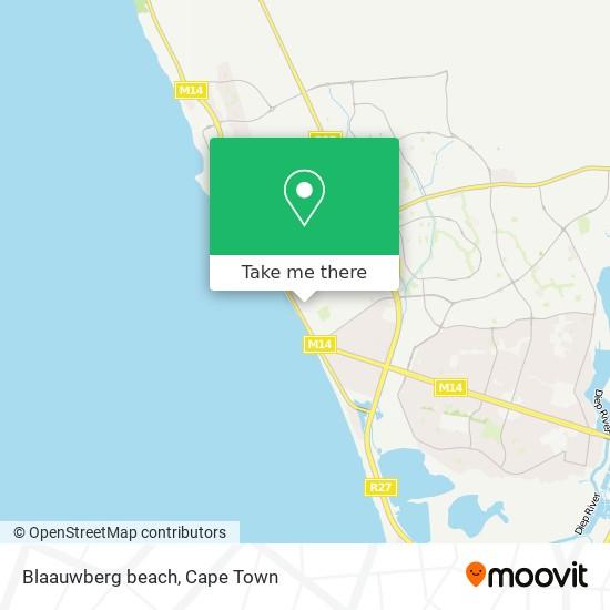 Blaauwberg beach map