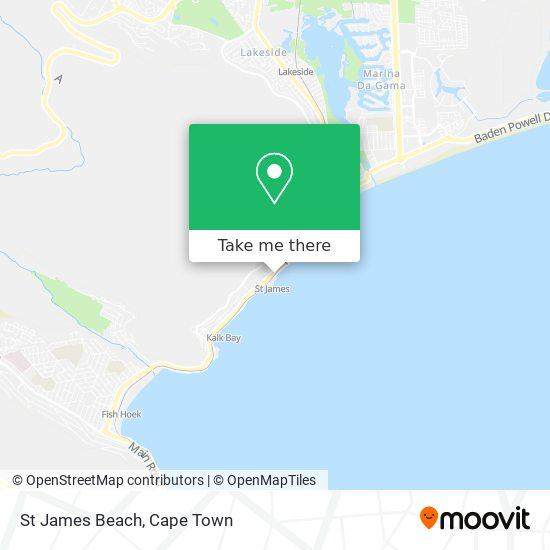 St James Beach map