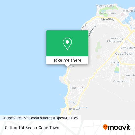Clifton 1st Beach map