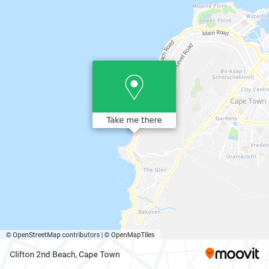 Clifton 2nd Beach map
