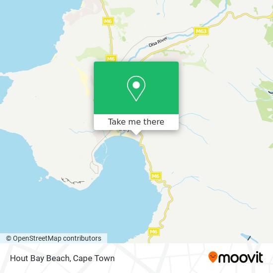 Hout Bay Beach map