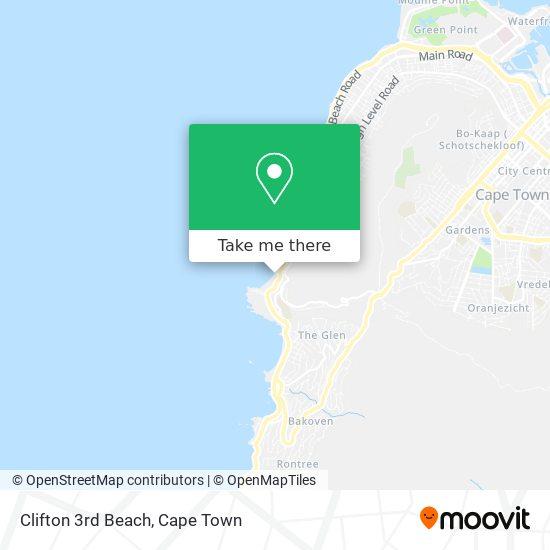 Clifton 3rd Beach map