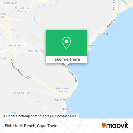 Fish Hoek Beach map