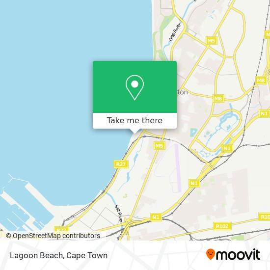 Lagoon Beach map