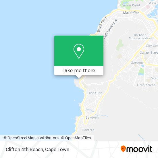 Clifton 4th Beach map