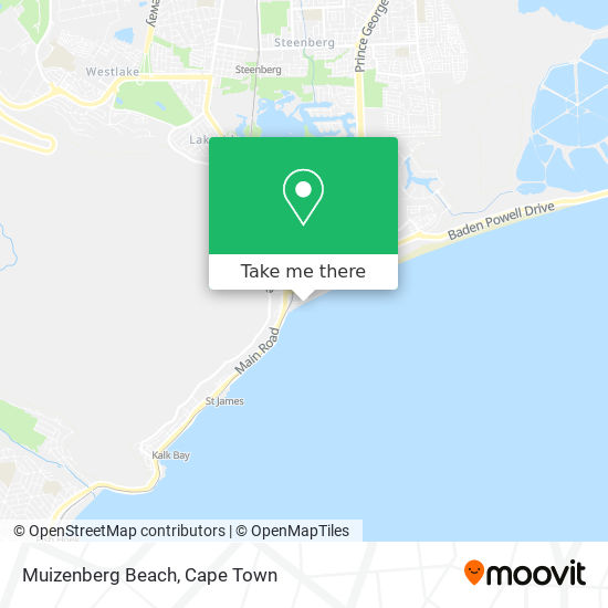 Muizenberg Beach map